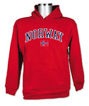 Norwegisches Sweatshirt rot Gr. XL